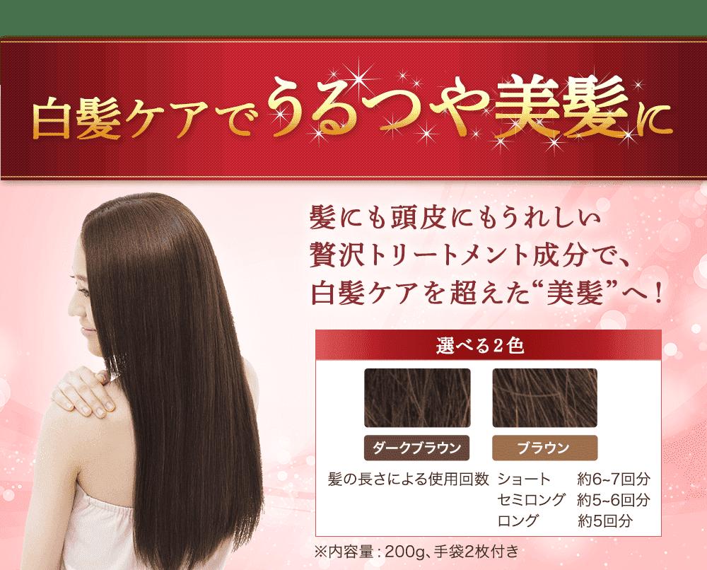 """美髪集中ケアコースで白髪ケアを超えた""""美髪""""を手に入れるチャンス!"""