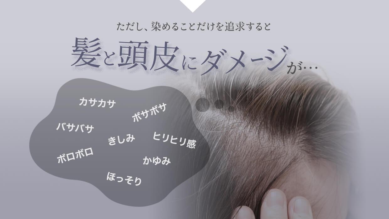 ただし、染めることだけを追求すると髪と頭皮のダメージが・・・