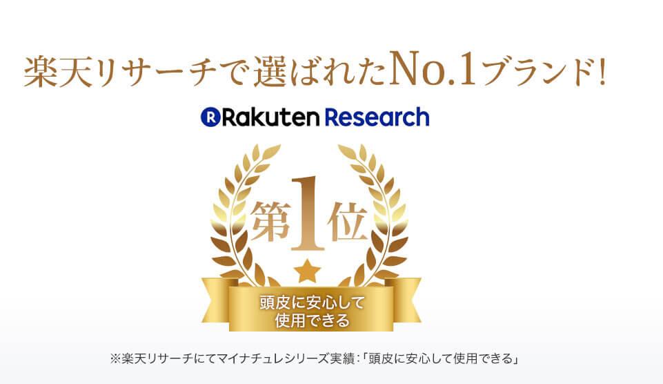 楽天リサーチで4冠達成! 選ばれたNo.1ブランド!
